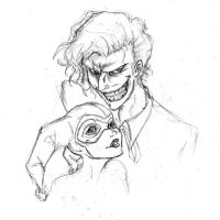 Joker and Harley by RobinElyce