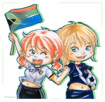 cheering fifa wc 2010 by ka0rie
