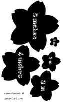 Sakura blossom craft templates by ranmaownsme
