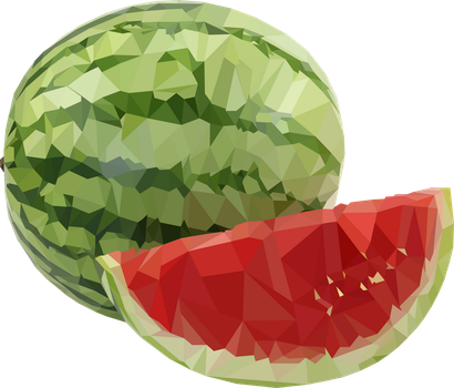 Polygonal Watermelon by FickleMyTancy