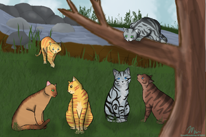 On The Riverclan Patrol by CeruleanOasis