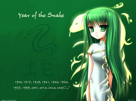 Year of the Snake Wallpaper by TheMorningMist