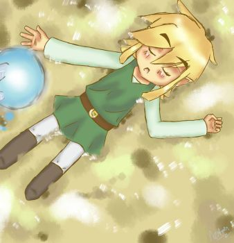 Sleeping Link by CaptainAza