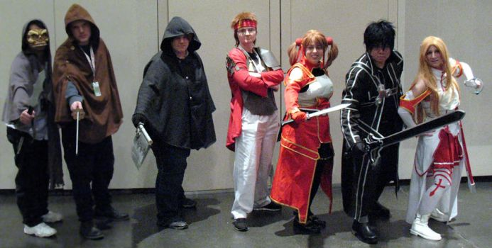 Sword Art Online Group Pic by madboxkid