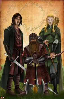 LOTR_The Warriors by TyrineCarver