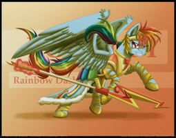Battle Armored Rainbow Dash by InuHoshi-to-DarkPen