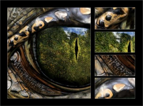 The Reptiles (see two different views at once) by Dewona