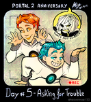 Asking for trouble - PORTAL 2 Anniversary by HeavenRose150