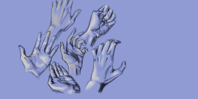 Study of hands by Jynelle
