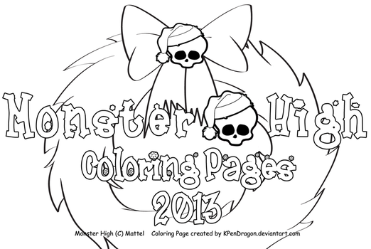 MH: Holiday Coloring Pages 2013 by KPenDragon