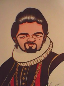 Blackadder Caricature by FrijolesGirl