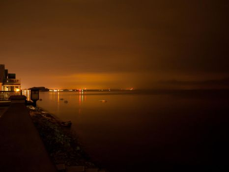 Long Exposure Over the Lake by requiem2872