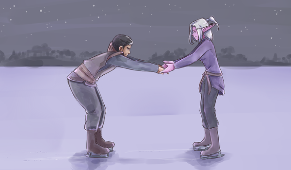 Day 6: Ice skating by SkyDrew