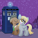 Derpy's First Kiss by artwork-tee