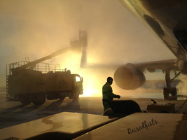 Deicing and push-back by RaisedFists