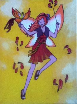 Erin the Firebird Fairy by MinervaEmiprav
