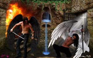 Battle of the Malign and the Benign by Branka-Johnlockian