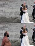 Photobomb fixed: Beach wedding by drowe1016