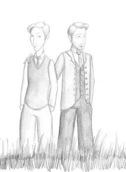 Nick Carraway and Jay Gatsby by CuddlySunshine