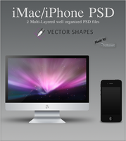 iPhone and iMac PSD file by GrDezign