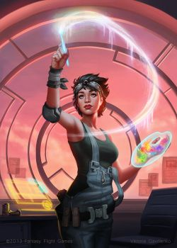 Kate - Android: Netrunner by Viccolatte