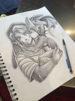 Tp Link and Midna doodle by Mimibert