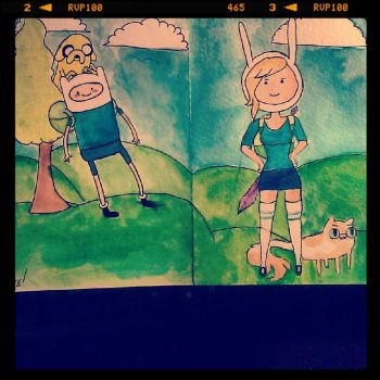 What Time Is It?!?!? ADVENTURE TIME!!! by AsylumBeauty