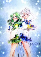 haruka and michiru - eternal uranus and neptune by zelldinchit