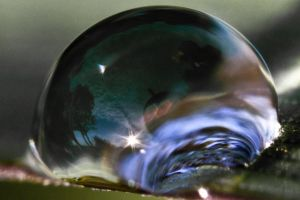 Landscape in a raindrop by Ithil-Hini