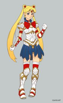 Armored Sailor Moon by FonteArt