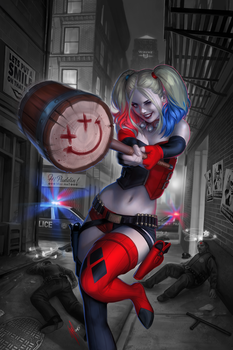 Harley Quinn #1 variant by WarrenLouw