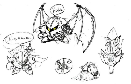 Meta Knight Doodles by GeneBomb