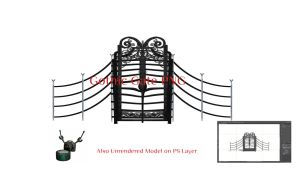 Gothic Gate PNG by ArthurRamsey