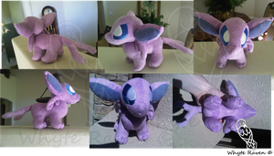 Hand Made Espeon Plush by Whyte-Raven