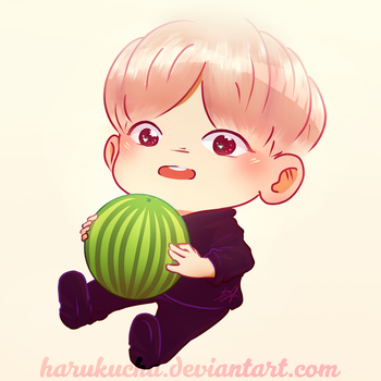Hobi and His Watermelon by HaruKuCha