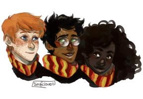 Golden Trio by SixofClovers