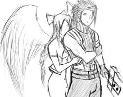 Zack and Aerith by DukeDeRox