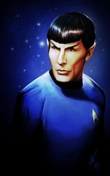 Leonard Nimoy as Mr. Spock by KiloWhat