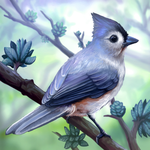 Layer Paint Tufted Titmouse by charfade