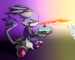 One Hour Sonic Challenge-Blaze Cake by Fly-Sky-High