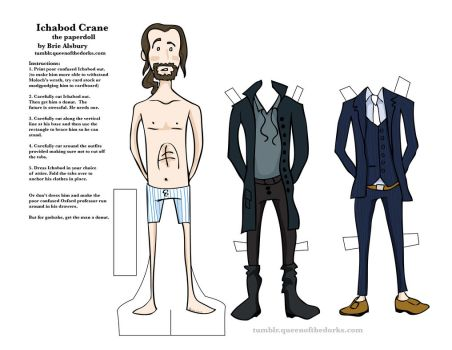 Ichabod Crane - the paper doll by queen-of-the-dorks