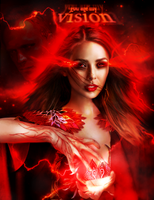 you are my vision   Scarlet Witch Vision by bxromance
