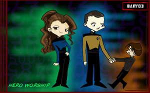 Chibi Data and Timothy by BBMacToma