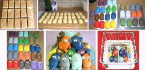 Little Monsters stages by ginas-cakes