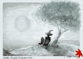 Wiz and e Maple Tree : b n w by terryrism
