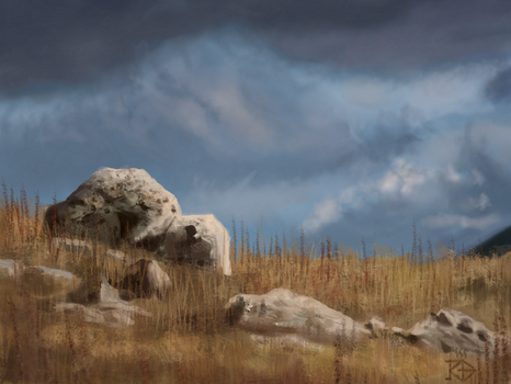Mountain hilltop rocks /study by RGBfumes
