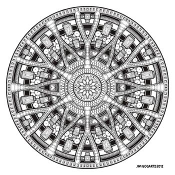 Mandala hand drawing 45 by Mandala-Jim