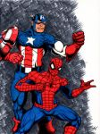 Cap and Spidey by The-Standard
