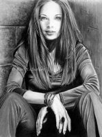 Kristin Kreuk Drawing by KJS-1