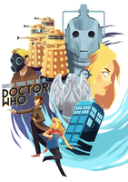 Doctor Who and Rose Tyler by Pikila